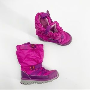 Stride Rite Pink Snow Boots Elastic Toddler 6.5